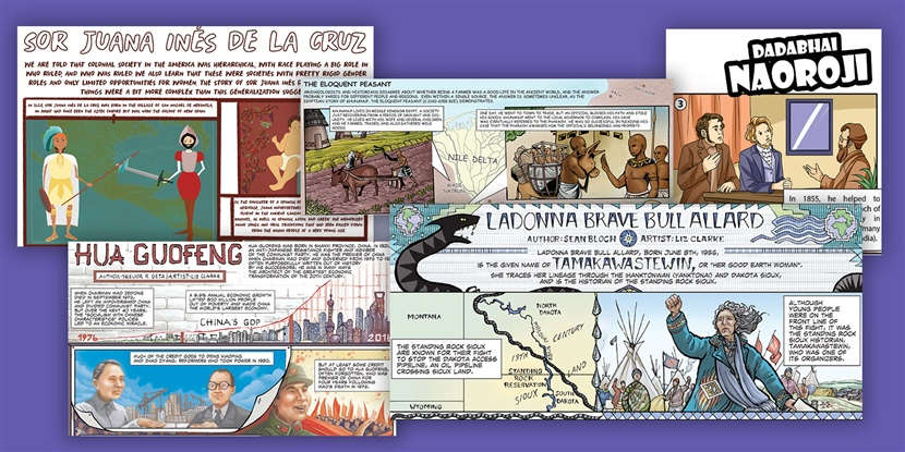 Humans ARE world history: Introducing WHP graphic biographies!