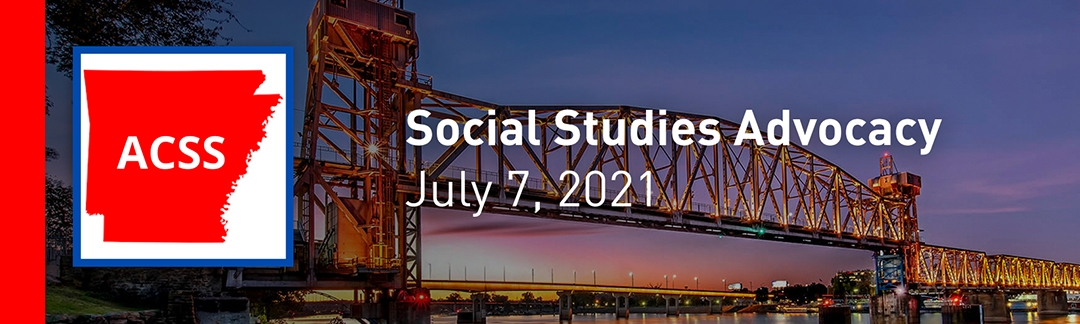 conference event banner with Junction Bridge, Little Rock, Arkansas, in the background